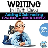 Writing About Math: Adding and Subtracting Fractions with