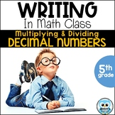 Writing About Math: Multiplying and Dividing Decimals
