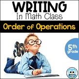 Writing About Math: Order of Operations