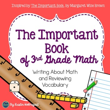 Writing About Math - The Important Book (3rd Grade)