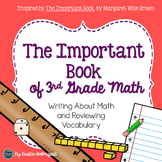 Math Vocabulary - The Important Book (3rd Grade)