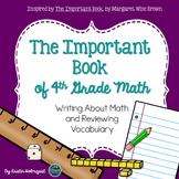 Math Vocabulary - The Important Book (4th Grade)