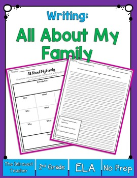 Writing About My Family Planning Sheet and Publishing Paper with Checklist