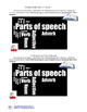 Writing About: Parts of Speech