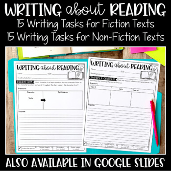 Writing About Reading | Digital Pages to Use with Google | Distance Learning