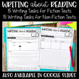 Writing About Reading | Digital Pages to Use with Google |
