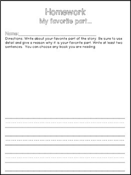 Writing About Reading- Freebie