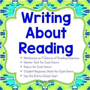 Writing About Reading: 9 Genres of Minilessons, Mentor Tex