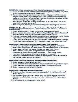 Writing About Reading And Writing: EDITABLE First Writing Assignment