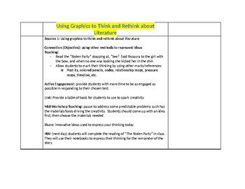 Writing About Reading Bend 1 - Calkins