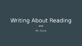 Writing About Reading - Bend 1 and 2 - Lucy Calkins PowerPoint