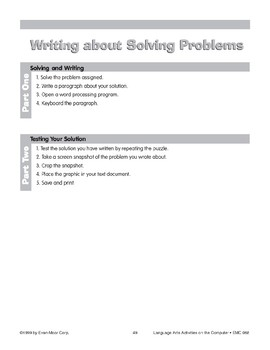 Writing About Solving Problems