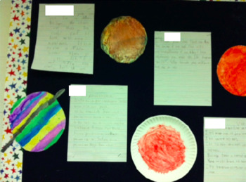 Writing About Space - Informative, Opinion, Argumentative Guided Printables