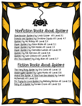 Writing About Spiders- Opinion and Informative Writing Unit!