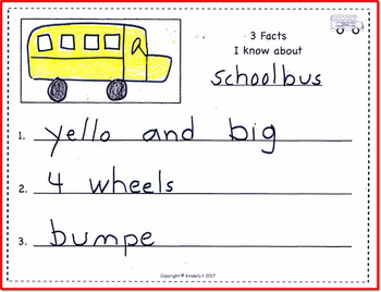Three Writing Journals About Transportation