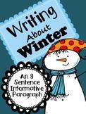 Winter Writing - An 8 Sentence Informative Paragraph