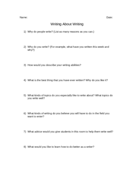 Writing About Writing