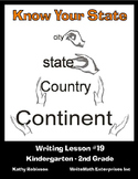 Writing About Your Home State - Writing Minilessons for K - 2nd Grade