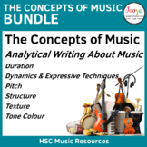 Writing About the Concepts of Music Bundle