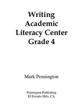 Writing Academic Literacy Center Grade 4