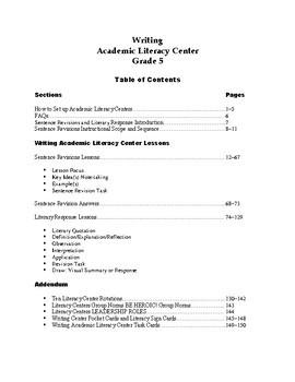 Writing Academic Literacy Center Grade 5