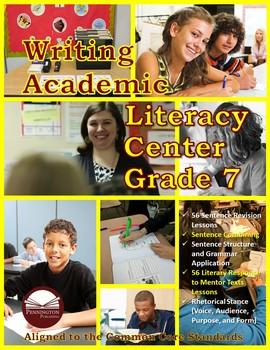 Writing Academic Literacy Center Grade 7