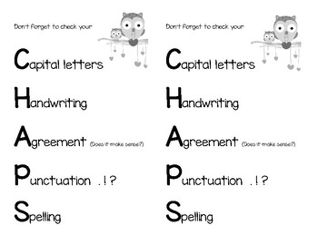 Writing Acronym CHAPS