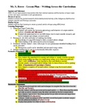 Writing Across the Curriculum Biology Lesson Plan Evaluati