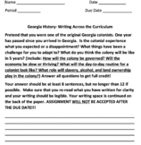 Writing Across the Curriculum with Georgia History