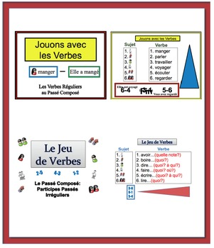 Writing Activites for the Passé Composé in French (20 Powerpoints)