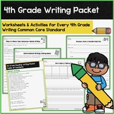 Writing Activities & Assessments: 4th Grade Common Core