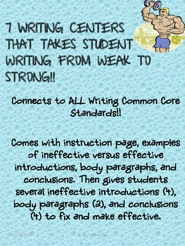 Writing Activities: Enhancing the Introduction, Body Parag
