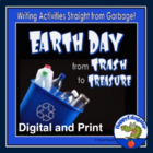 Earth Day Activities - Writing Journal Prompts about Garbage