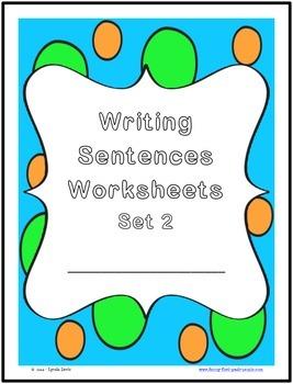 Writing Sentences Worksheets - Set 2