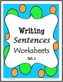 Writing Sentences Worksheets - Primer