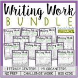 Writing Activities Literacy Centers Bundle - ON SALE for 4