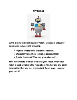 Writing Activities: My Very Own Robot