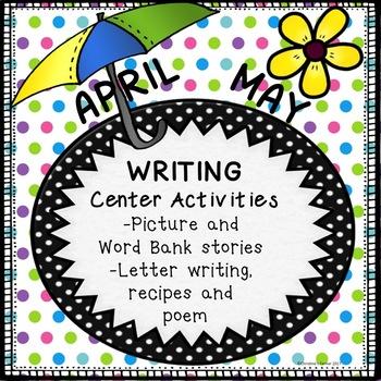 Writing Activities NO PREP April  May  Worksheets Activiti