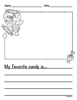 Writing Activities - OCTOBER Pretty Papers & Prompts