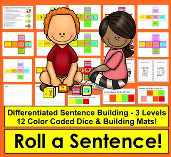 Sentence Building: Roll a Sentence!  For reluctant writers...