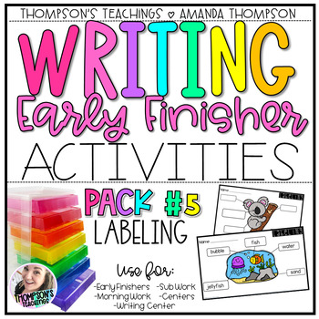 Writing Activities for Early Finishers PACK 5