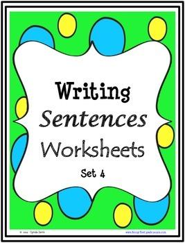 Writing Sentences Worksheets - First Grade