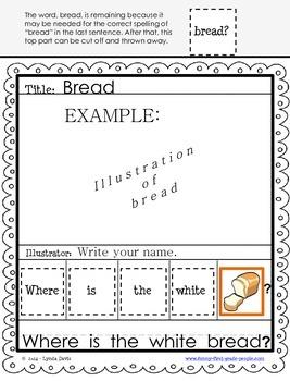 Writing Sentences Worksheets - K-1