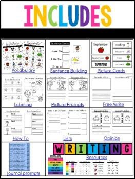 Writing Activities for Kindergarten- September