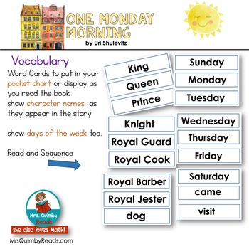One Monday Morning  | Interactive Reading Booklet | Book Companion