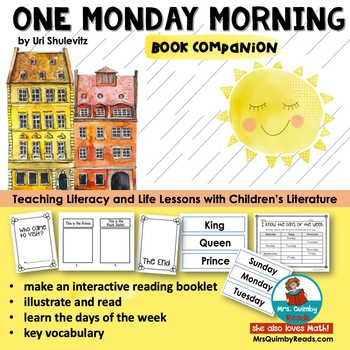 One Monday Morning Interactive Reading Booklet Book Companion