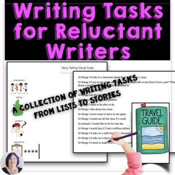 Writing Activity Ideas for Reluctant Writers: ideas from lists to stories