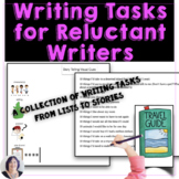 Writing Activity Ideas for Reluctant Writers   Ideas, Lists, Stories & More!