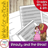 Writing Activities for a Month   Beauty & the Beast Level II