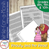 Writing Activities for a Month    Beauty & the Beast Level V